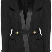Balmain Woven wool blazer – 59% at THE OUTNET.COM