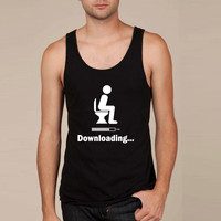 Downloading - funny Tank Top