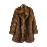 Frontrowshop design faux fur coat