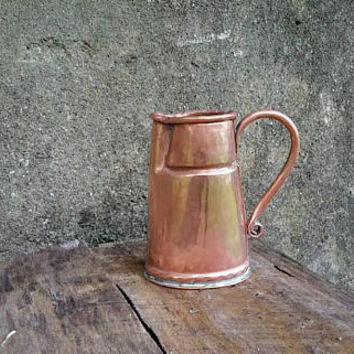 Vintage Swiss Copper One Pint Pitcher