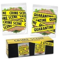 Accoutrements Crime Scene Sandwich Bags (20 Locking bags)