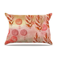 "Marianna Tankelevich ""Summer Music"" Red Orange Pillow Case"