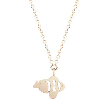 Pendant Necklace Silver Gold Animal Topic Fish Necklace