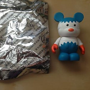 """vinylmation disney urban 2 series 3"""" white blue gear artist signed new with foil"""
