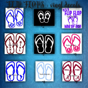FLIP FLOPS vinyl decals | summertime | beach | decal | sticker | car decals | car stickers | laptop sticker - 1-9