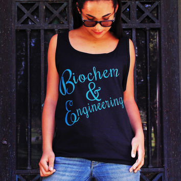 Biochem and Engineering Tank Top. Superhero Fandom Shirt. Unisex Sizing.