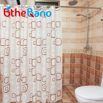 WaterProof bath Curtain Square Pattern Home curtains Bathroom Shower Curtain PEVA fabric shower curtain Free Shipping 8 Sizes