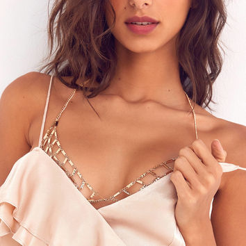 8 Other Reasons Nicole Bralette Body Chain | Urban Outfitters