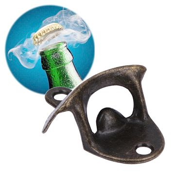Bottle Opener Retro Wall Mounted Vintage Beer Wine Open Tool Home Bar Decor Bar Beer Soda Glass Cap Bottle Opener