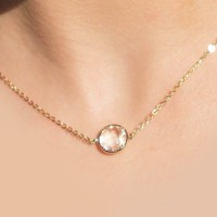 Clear Stone Stacking Necklace - $25