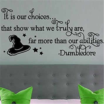Dumbledore Harry Potter Inspirational Hogwarts Vinyl  Decor Home Decor Poster Wall Art Nursery  Bedroom Soccer Wall Sticker M180