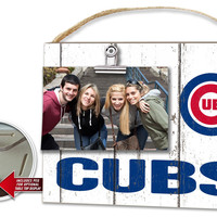 Chicago Cubs Clip It Weathered Logo Photo Frame