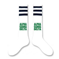 Alpha Gamma Delta- Sorority Block Letter Knee High Socks