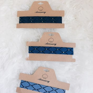 Link Up Denim Choker (Light Wash, Medium Wash, Dark Wash)