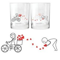 "BOLDLOFT® ""All My Love for You"" His & Hers Drinking Glasses-His Hers Couple Gifts,Matching Couples Gifts,Christmas Gifts for Him for Boyfriend,Cute Valentines Day Gifts,Romantic Anniversary Gifts"