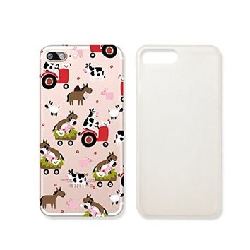 Cute Animals Cow Sheep Donkey Slim Iphone 7 Case, Clear Iphone Hard Cover Case For Apple Iphone 7 Emerishop (iphone 7)