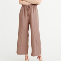 Womens Cropped Wide-Leg Pants | Womens Bottoms | Abercrombie.com