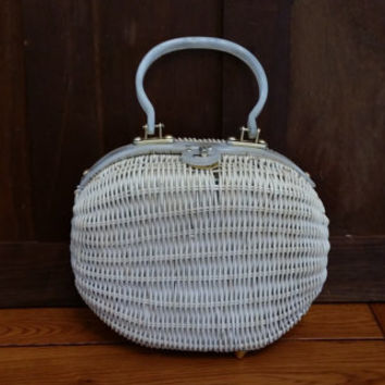 Vintage White Wicker Simon Purse Styled by Ernest Blum