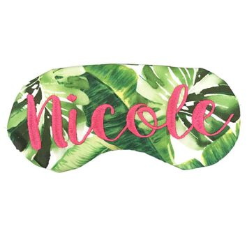 TROPICAL WEDDING PARTY SLEEP MASKS, MAKE IT PERSONAL!