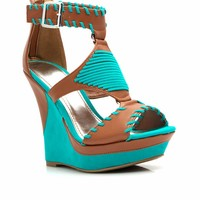 Ornamented Stitch Platform Wedges - GoJane.com