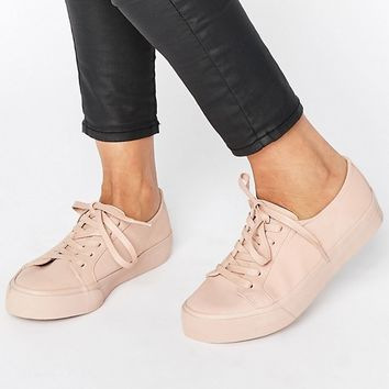 ASOS DESTINY Wide Fit Lace Up Trainers at asos.com