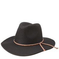Black Braided Band Felt Panama Hat by Charlotte Russe