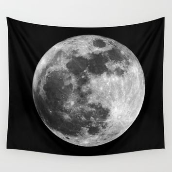 moon Wall Tapestry by Lostfog Co↟