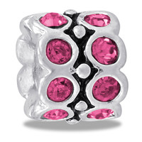 DaVinci Beads October CZ Wheel Pink Jewelry