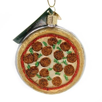 Old World Christmas PIZZA PIE Glass Deep Dish Pepperoni 32350