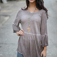 Anywhere With You Baby Doll Tunic Top