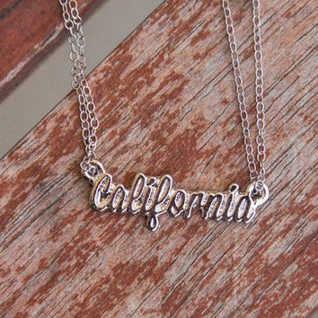 Silver California Double Chain Necklace