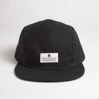 Brushed Chino Camp Cap - Black
