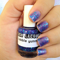 Bubble Yummy CustomBlended Glitter Nail Polish / by lushlacquer