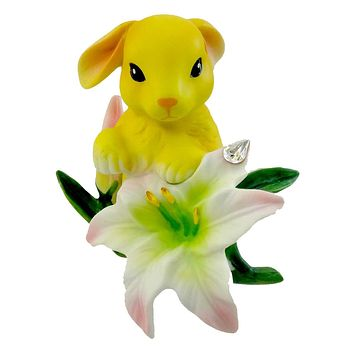 Easter BUNNY WITH LILY Porcelain Easter Spring Flower Garden 4027617
