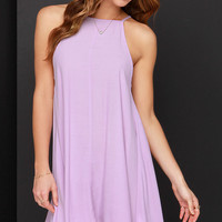 Mink Pink Apron Lavender Swing Dress