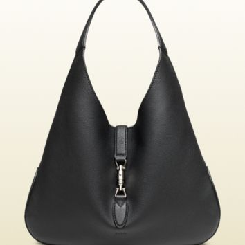 Gucci Women's Jackie Soft Leather Hobo Bag, Black, MSRP $3,190