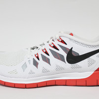Nike Men's Free 5.0 2014 White/Red Running Shoes 642198 106