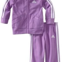 adidas Baby Girls' Basic Tricot Set, Purple, 24 Months