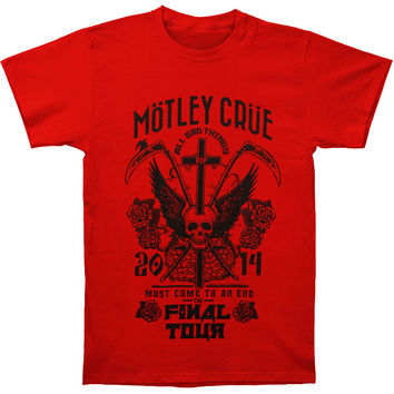Motley Crue Men's  Final Tour Slim Fit T-shirt Red