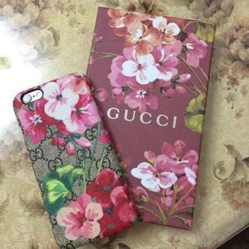 Perfect GUCCI Fashion Flower Print iPhone Phone Cover Case For iphone 6 6s 6plus 6s-plus 7 7plus