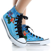 Stitch,High Top,canvas shoes,Painted Shoes,Special Christmas Gift,Birthday gift,Men Shoes,Women Shoes