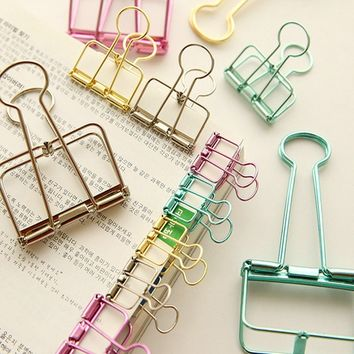 4Pcs Paper Clips Binder Clips Bookend Retro Dovetail Clamp Home Office School File Paper