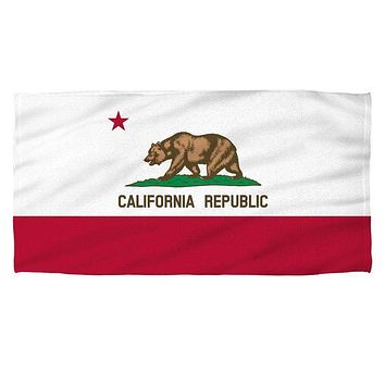 California State Flag Sublimation Beach Towel