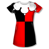 Harley Quinn Costume Sublimation Juniors T-Shirt