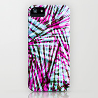 Pink Tiger Stripes iPhone & iPod Case by Claudia Owen
