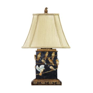 93-530 Birds On Branch Table Lamp in Black - Free Shipping!
