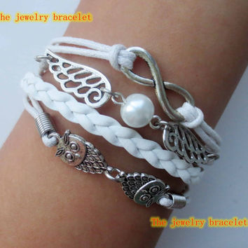 Welcome to my shop,The owl  Bracelet-The Deathly Hallows Bracelet / Harry Potter Jewelry   Wing Bracelet