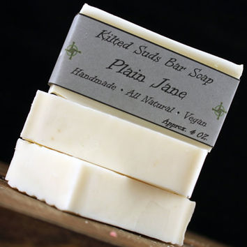 Plain Jane Bar Soap, Vegan Soap, Unscented Soap, Plain Soap, Dye Free Soap, Fragrance Free Soap, Bar Soap, Hand Soap, Natural Soap