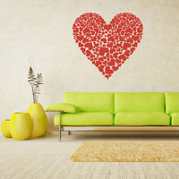 rvz1686 Wall Decal Vinyl Sticker Decals Heart Many Hearts Love