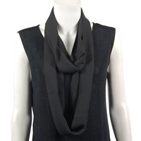 Georgette Infinity Scarves (Black)